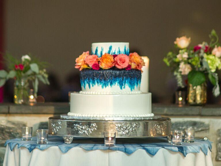 Tie-dye wedding cake