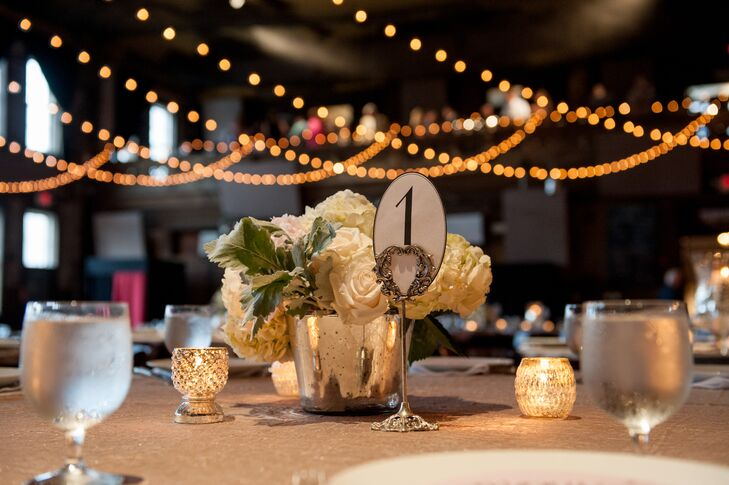 Oval Table Number With Candles