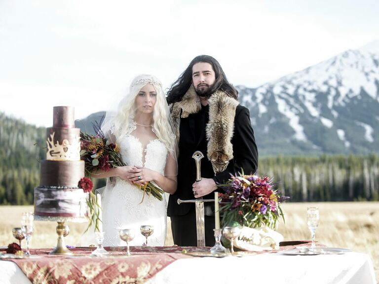 Of Thrones Inspired Wedding Photo