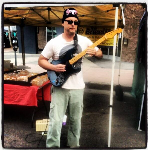 Rocking at Hollywood Farmers Market