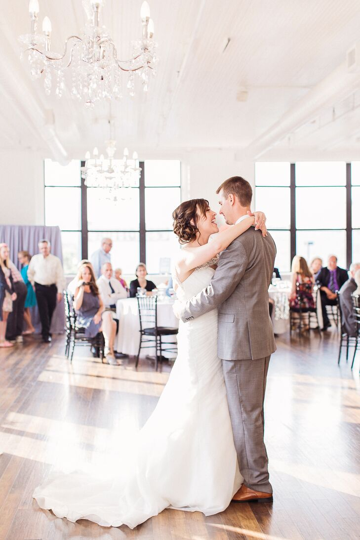 "The couple's first-dance song was ""Crazy Love"" by Van Morrison."