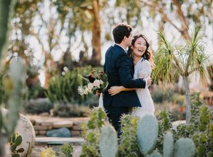 "Tina and Jon got married in a ceremony at the San Diego County Administrative Building and celebrated with a reception at Trust Restaurant. ""We're bot"