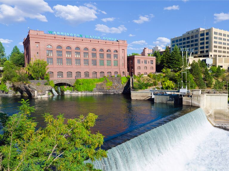 Spokane city view wedding venue