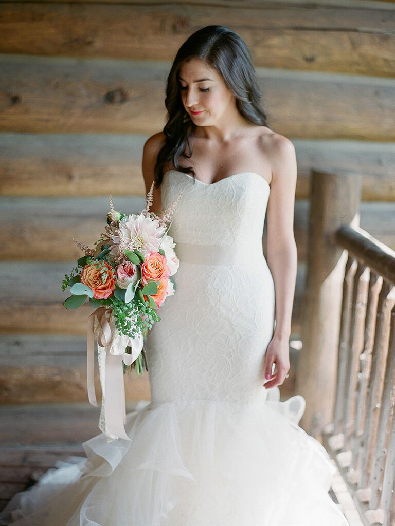 Vera Wang lace sweetheart mermaid wedding gown