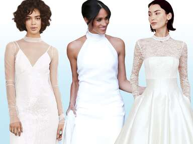 Mock neck wedding dresses