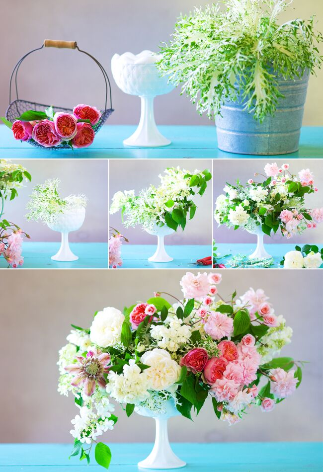 Make Your Own Cascading Centerpiece N R Underwood Kiana Blog Theknot