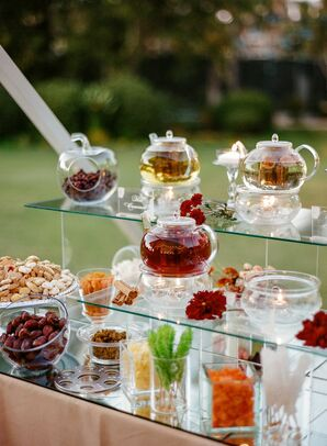 Reception Tea Bar with Assorted Flavors