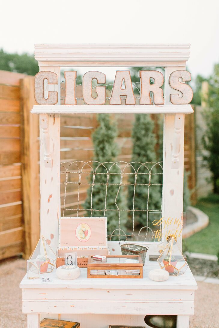 Rustic-Elegant Cigar Bar Display