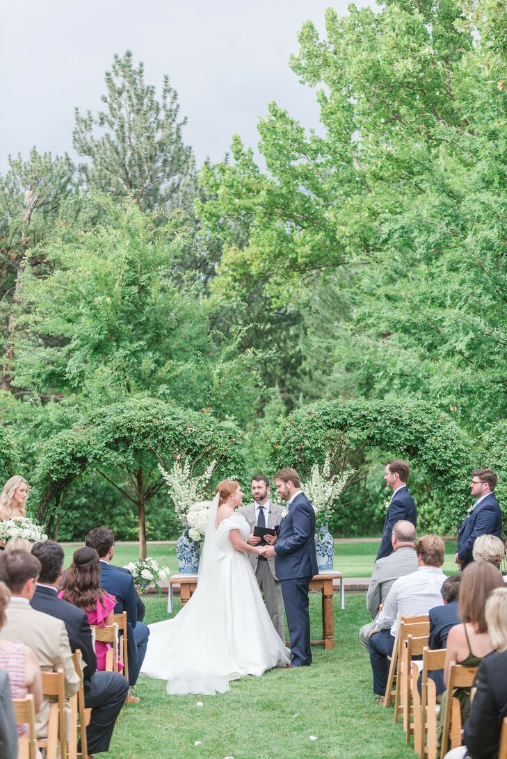 Classic Outdoor Ceremony at Los Poblanos Ranch