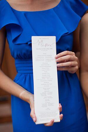 Slender Wedding Programs