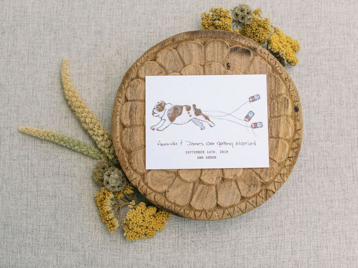 Stationery with Fun Dog Illustration
