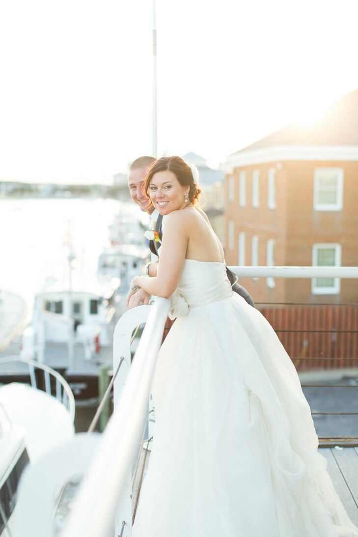 Newlyweds with Bay Views