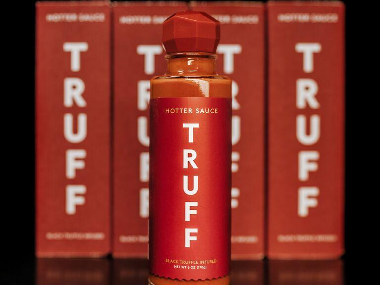 Bottle of Truff hotter sauce Valentine's gift idea