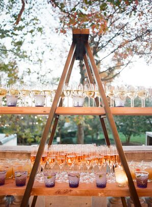 Rustic Wooden Champagne Stand