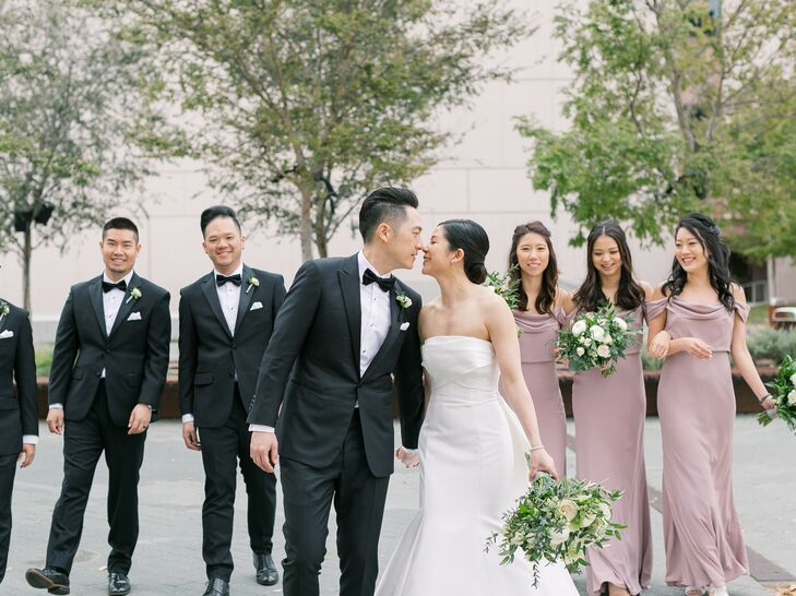Wedding Party Portraits at Segerstrom Center for the Arts in Costa Mesa, California