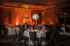 Elegant Black and White Ballroom Reception