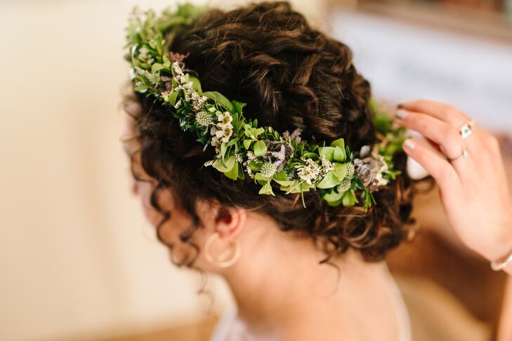 Whimsical Flower Crown of Greenery