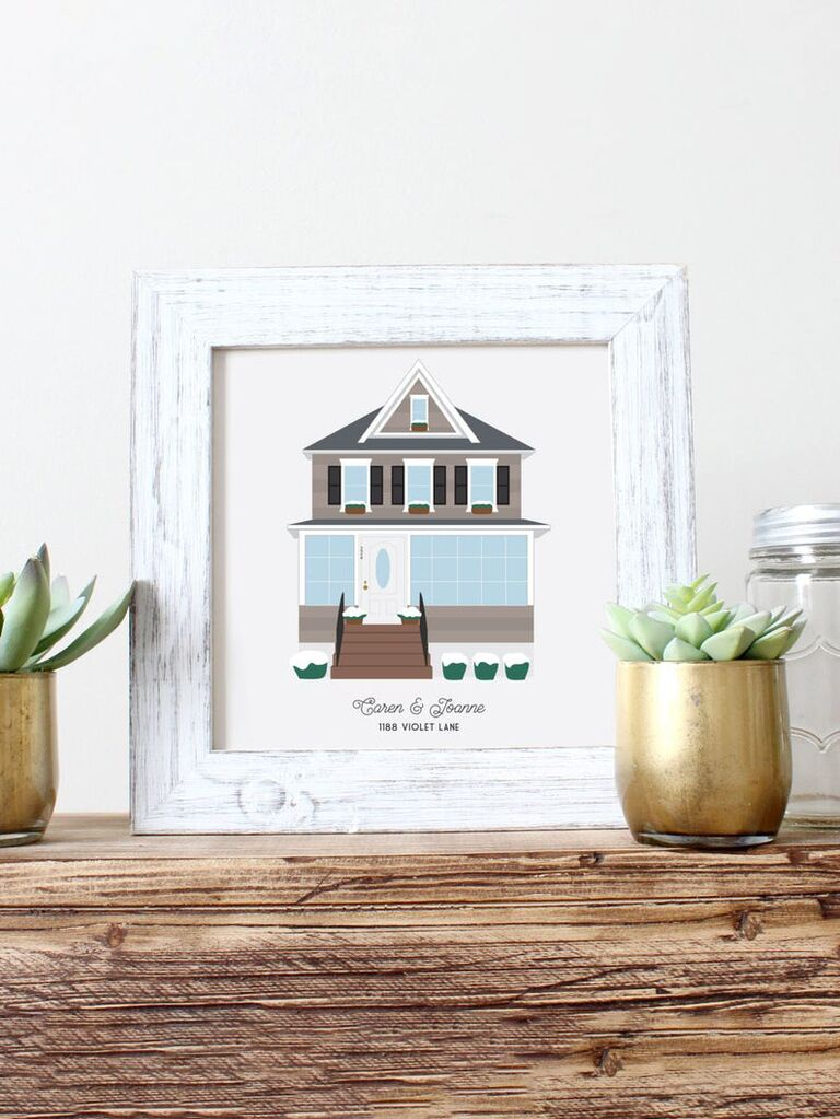 A handmade illustration of your house