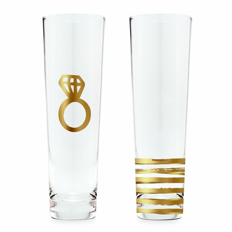 Champagne glasses for engagement