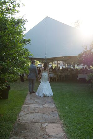 Reception Tent on Lawn of Hodge Podge Lodge