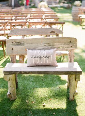 Rustic Wood Ceremony Bench