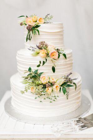 Ruffled Buttercream Cake with Fresh Flowers