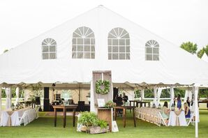 Erin and Michael's Rustic Backyard Tented Reception