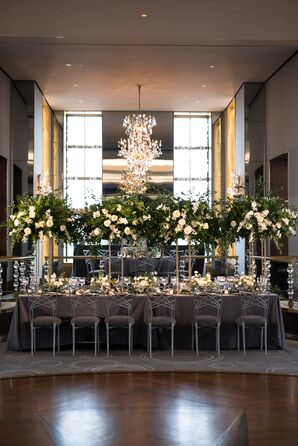 Glamorous Tall Centerpieces in The Rainbow Room