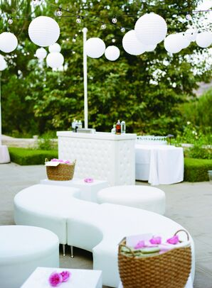 Chic White Lounge Space