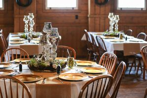 Rustic and Gold Table Decor