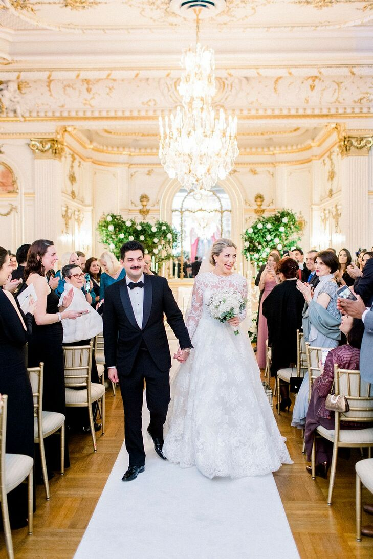Glamorous Recessional at Cosmos Club in Washington, DC