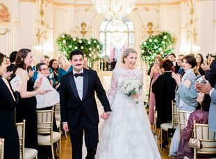 Catherine Cano and Hamed Alaghebandian had two separate weddings: a traditional Persian ceremony for family members and a Western ceremony for close f