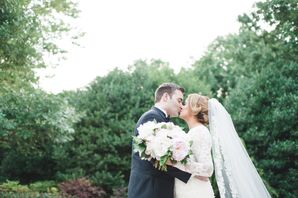 Long-Sleeve Lace Wedding Dress