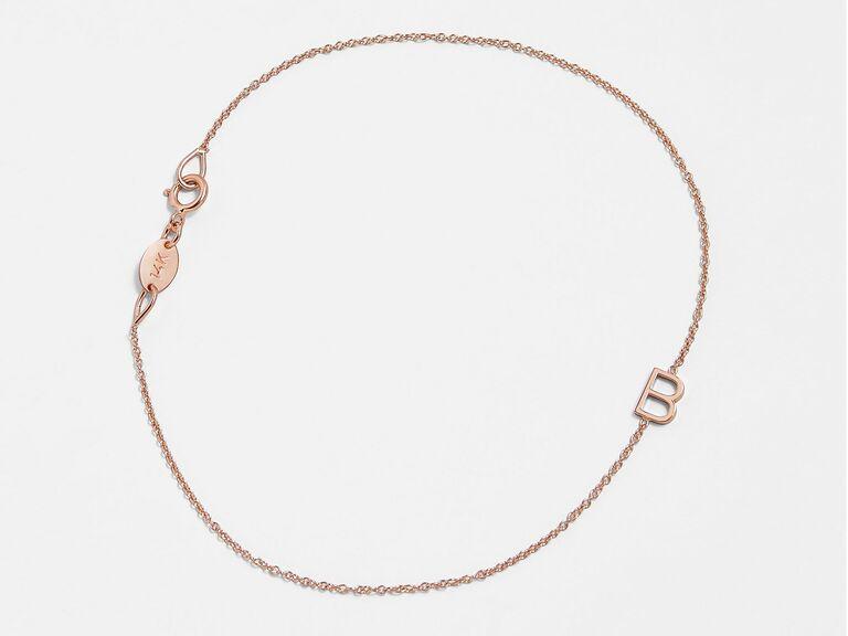 mini letter bracelet
