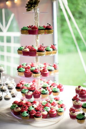 Chocolate and Vanilla Tiered Cupcake Display
