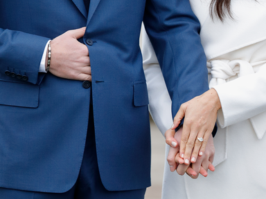 Prince Harry and Meghan Markle engagement ring photo