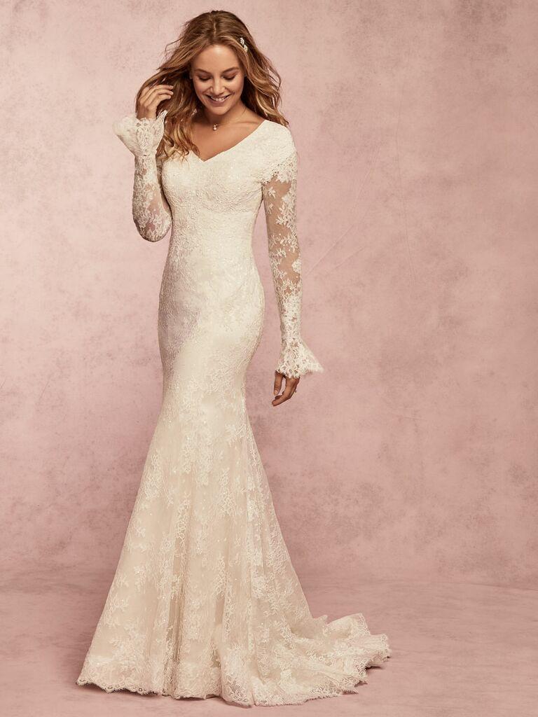 Rebecca Ingram Spring 2019 long sleeve lace wedding dress