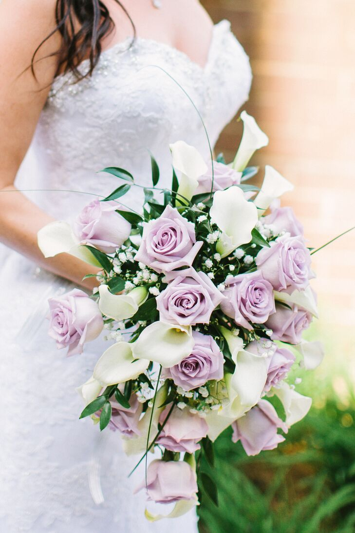 Lavender Rose And Calla Lily Bouquet