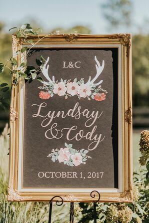 Romantic Rustic-Bohemian Wedding Sign
