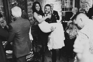 Couple Entering Reception at the Bear Mill Estate in Denver, Pennsylvania