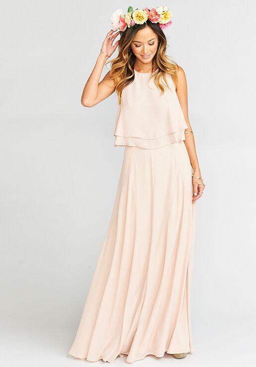 2ffceabfecf Show Me Your Mumu Princess Di Ballgown - Dusty Blush Crisp Square  Bridesmaid Dress