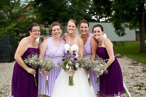 Assorted Purple Bridesmaid Looks