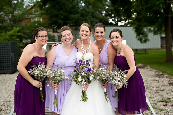 Assorted Purple Bridesmaid Looks