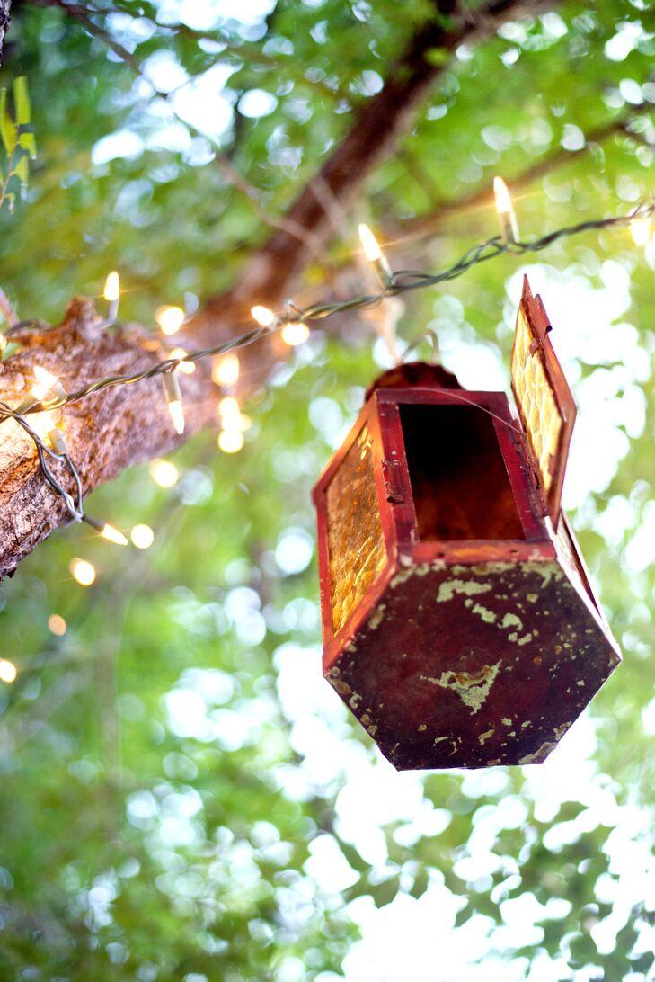Lantern Outdoor Reception Decor