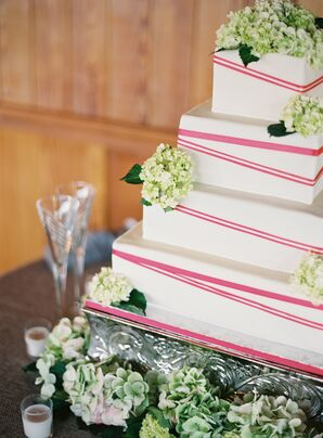 Charming Pink and White Cake