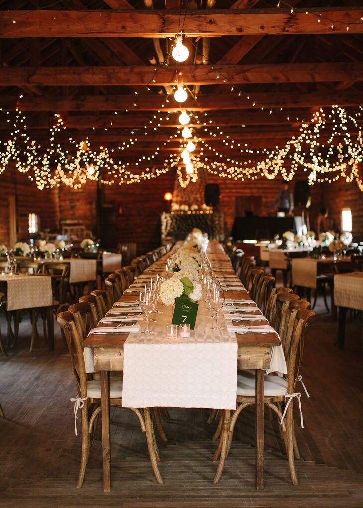 Springhill Pavilion Barn Wedding Reception With String Lights