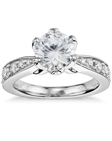 Monique Lhuillier Fine Jewelry Round Cut Engagement Ring