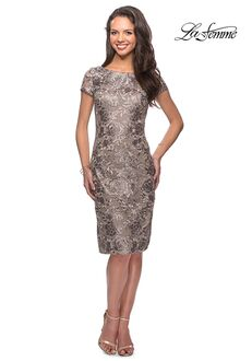 La Femme Evening 27828 Gold Mother Of The Bride Dress