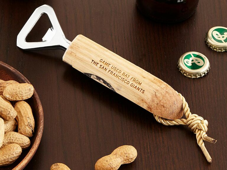 MLB baseball bat bottle opener unique gift for husband