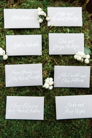 Sophisticated Hand-Lettered Escort Cards